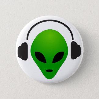 Music alien 2 inch round button