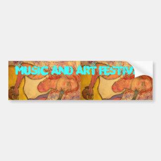 Music and Art Festival Bumper Sticker