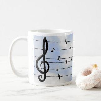 Music and birds coffee mug