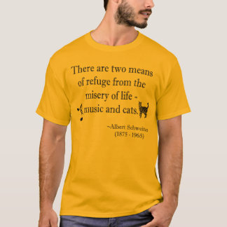Music and Cats Quotation T-Shirt