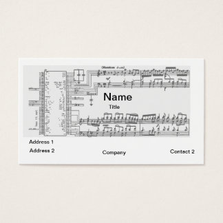 Music and Circuits Business Cards