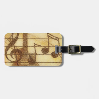 Music and Guitar Luggage Tag