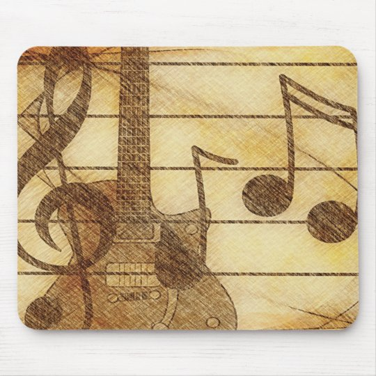 Music and Guitar Mousepad