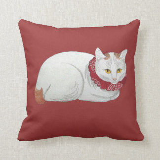 Music and Japanese Cat Art Quotation Cushion