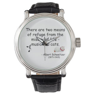Music and Japanese Cat Art Quotation Watch