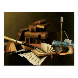 Music and Literature Postcard