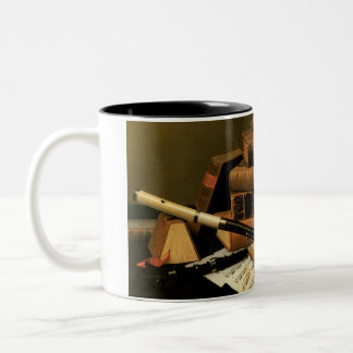 Music and literature... Two-Tone coffee mug