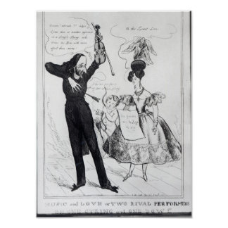 Music and Love or Two Rival Performers Poster