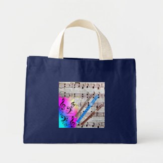 Music and Recorders Mini Tote Bag