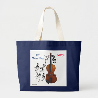 Music and Strings Large Tote Bag
