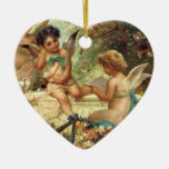 Music Angels by Hans Zatzka, Victorian Art Christmas Ornaments