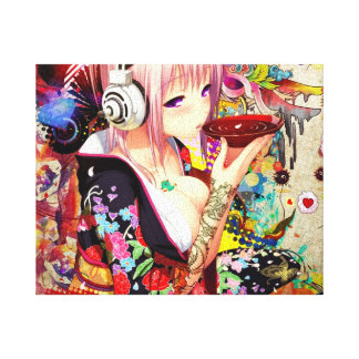 Music Anime Girl Canvas Print