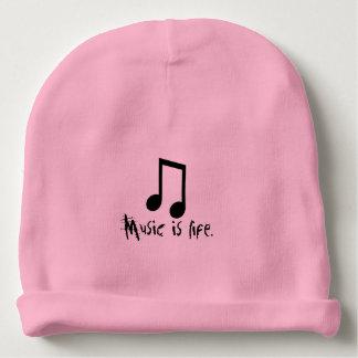 music are life baby beanie