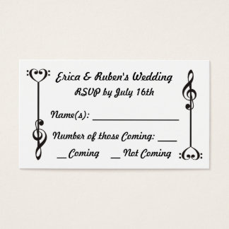 Music Arrow RSVP Business Card