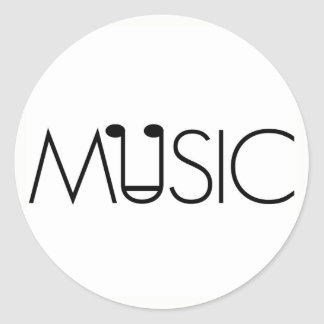 music art designs note minimalist neutral sticker