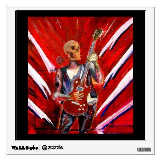 Music art Fantasy Skull musician with Guitar Wall Sticker
