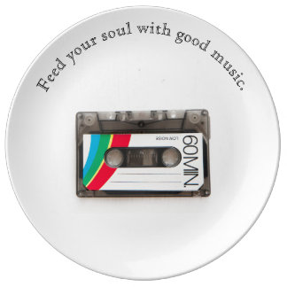 Music Art Mix Tape Motto Quote Plate