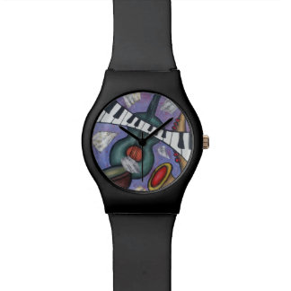 Music Art Watch Hand Painted