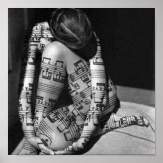 Music-artist, black and white poster