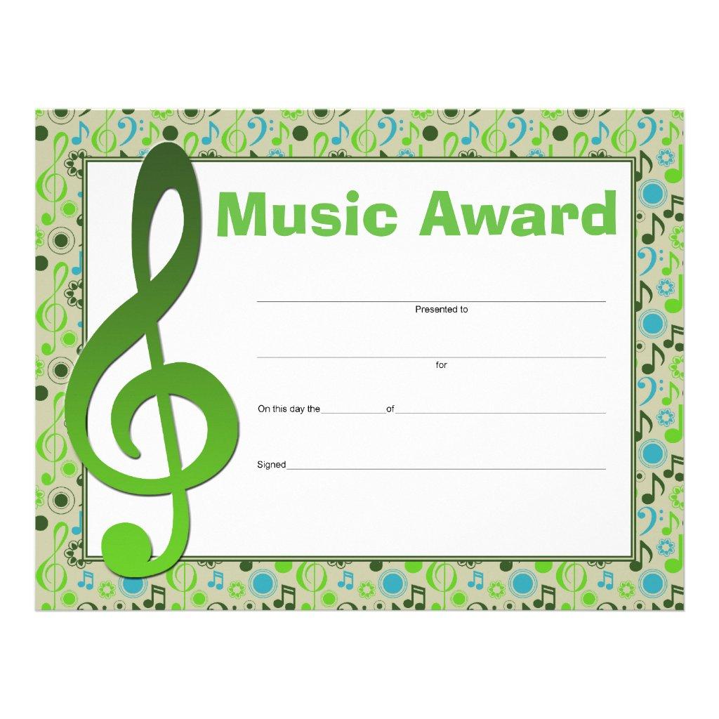 Music award certificate templates free blaspiconthejunkexpress music award certificate templates free 1betcityfo Choice Image
