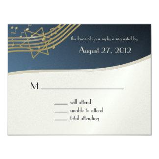Music Bar Mitzvah Response Card