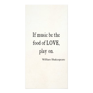 Music Be the Food of Love Shakespeare Quote Quotes Personalized Photo Card