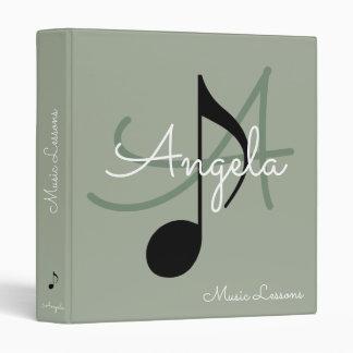 music-book / musical note monogram binders