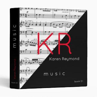 music-book / musical notes music binder