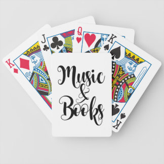 music & books quote typography script gift trendy bicycle playing cards