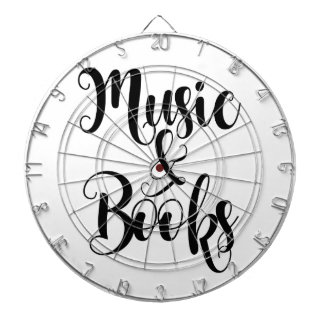 music & books quote typography script gift trendy dartboard