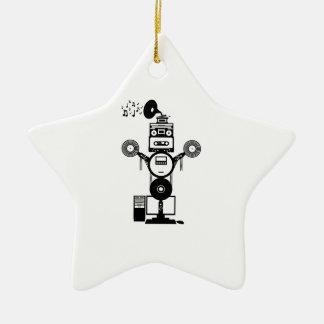 Music Bot Ceramic Ornament