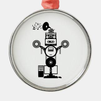Music Bot Metal Ornament