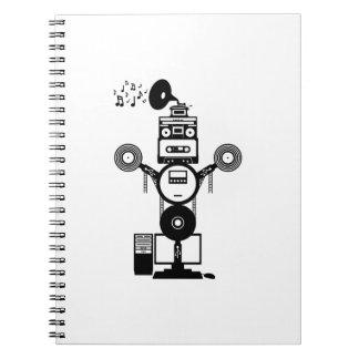 Music Bot Spiral Notebook