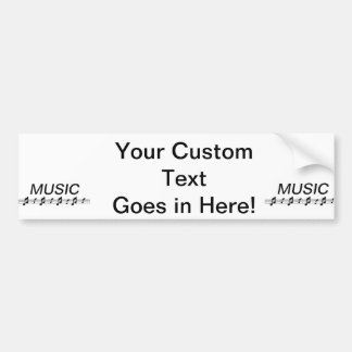 Music bottom with staff at bottom car bumper sticker