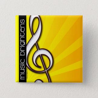 Music Brightens - Treble Clef Pin
