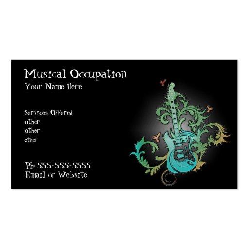 Music business card business card