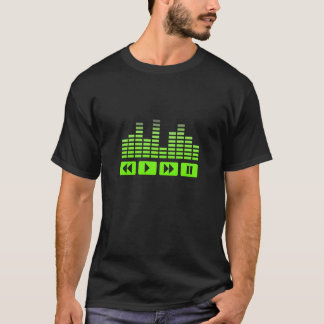 music buttons with equalizer t-shirt