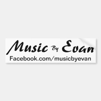 Music By Evan Bumper Sticker Facebook