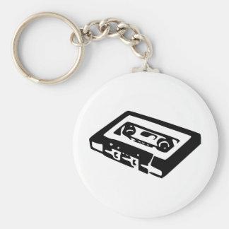 Music Cassette Design Basic Round Button Keychain