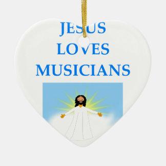 MUSIC CERAMIC HEART ORNAMENT