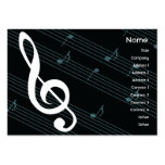 Music - Chubby Large Business Cards (Pack Of 100)