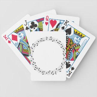 Music Circle Bicycle Playing Cards