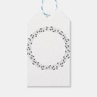 Music Circle Gift Tags