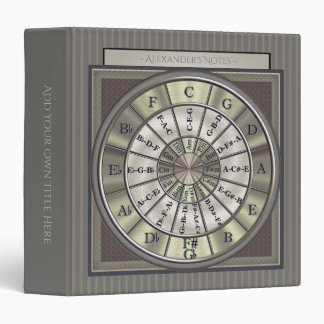 Music Circle of Fifths Smart Pinstripes 3 Ring Binders