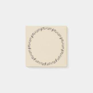 Music Circle Post-it Notes