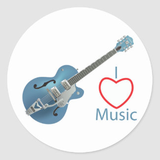 Music Classic Round Sticker