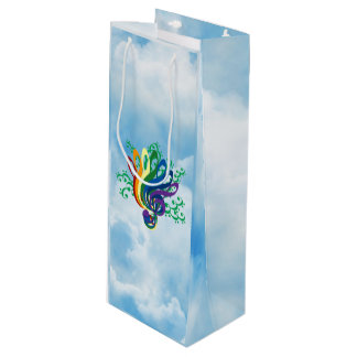 Music Clef Bouquet in Clouds Wine Gift Bag