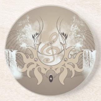 Music, clef coaster