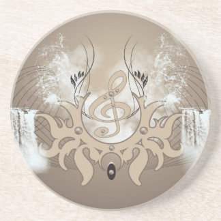 Music, clef coasters