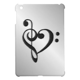 Music Clef Heart Cover For The iPad Mini